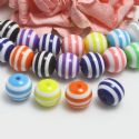 Beads, Layered color beads, Acrylic, Assorted colours, Spherical, Diameter 10mm, 12g, 25 Beads, [SLZ0573]